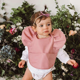 Snuggle Hunny Waterproof Bib in Primrose (Dark Pink) with Frills