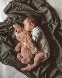 Snuggle Hunny Organic Muslin Wrap in Dusty Olive