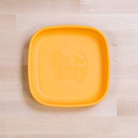 Re-Play Recycled Plastic Flat Plate in Sunshine Yellow - 18cm (Original Size)