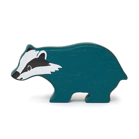 Tender Leaf Toys Wooden Animal - Badger (Woodlands Series)