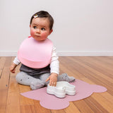 We Might be Tiny Catchie Bibs - Dusty Rose Pink and Powder Pink (Baby Pink)