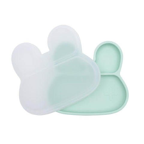 We Might be Tiny Stickie Plate Silicone Lid - Bunny Design
