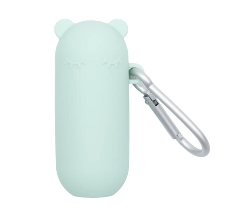 We Might be Tiny Keepie & Silicone Straws Set in Mint Green