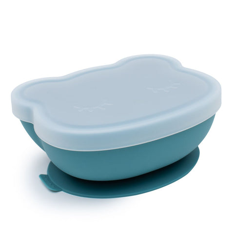 We Might be Tiny Stickie Suction Bowl in Blue Dusk