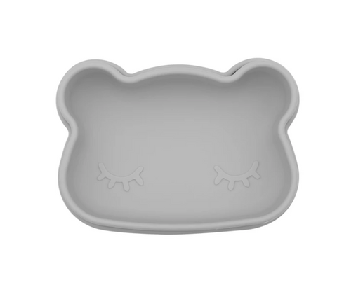 We Might be Tiny Bear Snackie (Silicone Food Storage) - Dark Grey