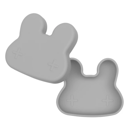 We Might be Tiny Bunny Snackie (Silicone Food Storage) - Dark Grey