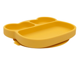 We Might be Tiny Divided Stickie Suction Plate in Yellow Mustard (Bear Design)