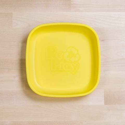 Re-Play Recycled Plastic Flat Plate in Yellow - 18cm (Original Size)
