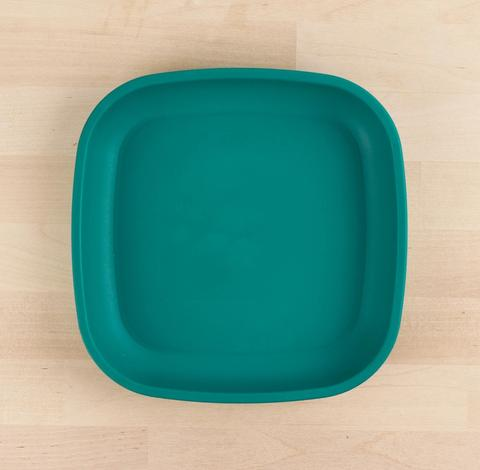 Re-Play Recycled Plastic Flat Plate in Teal - 18cm (Original Size)