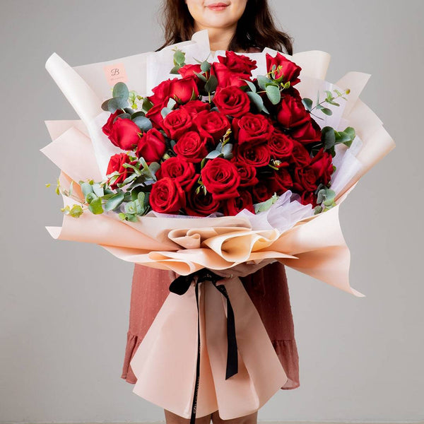 Ashley Red Rose Bouquet (MD)