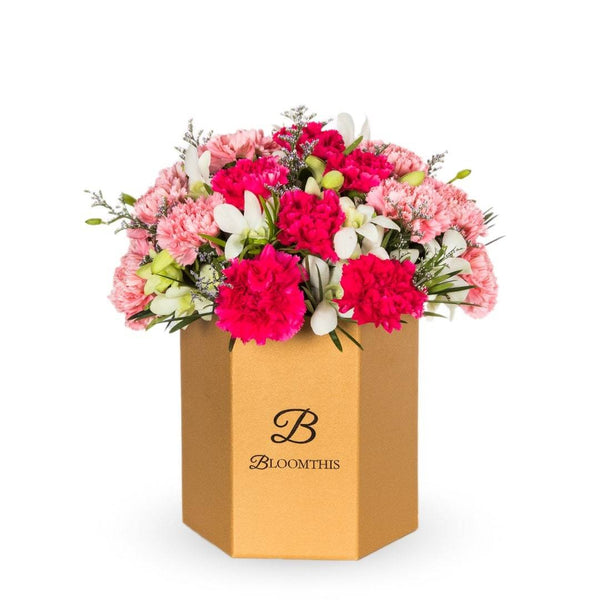 Phoebe Carnation Flower Box (MD)