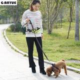 Ganyue Hands Free Elastic Dog Leash Adjustable Padded Waist Reflective Running Jogging Walking Pet Lead Belt With Pouch Bags