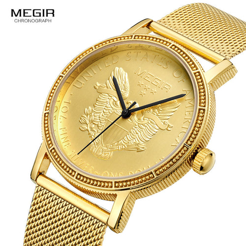 Megir - USA Gold Coin - Watch  watchalliance.store