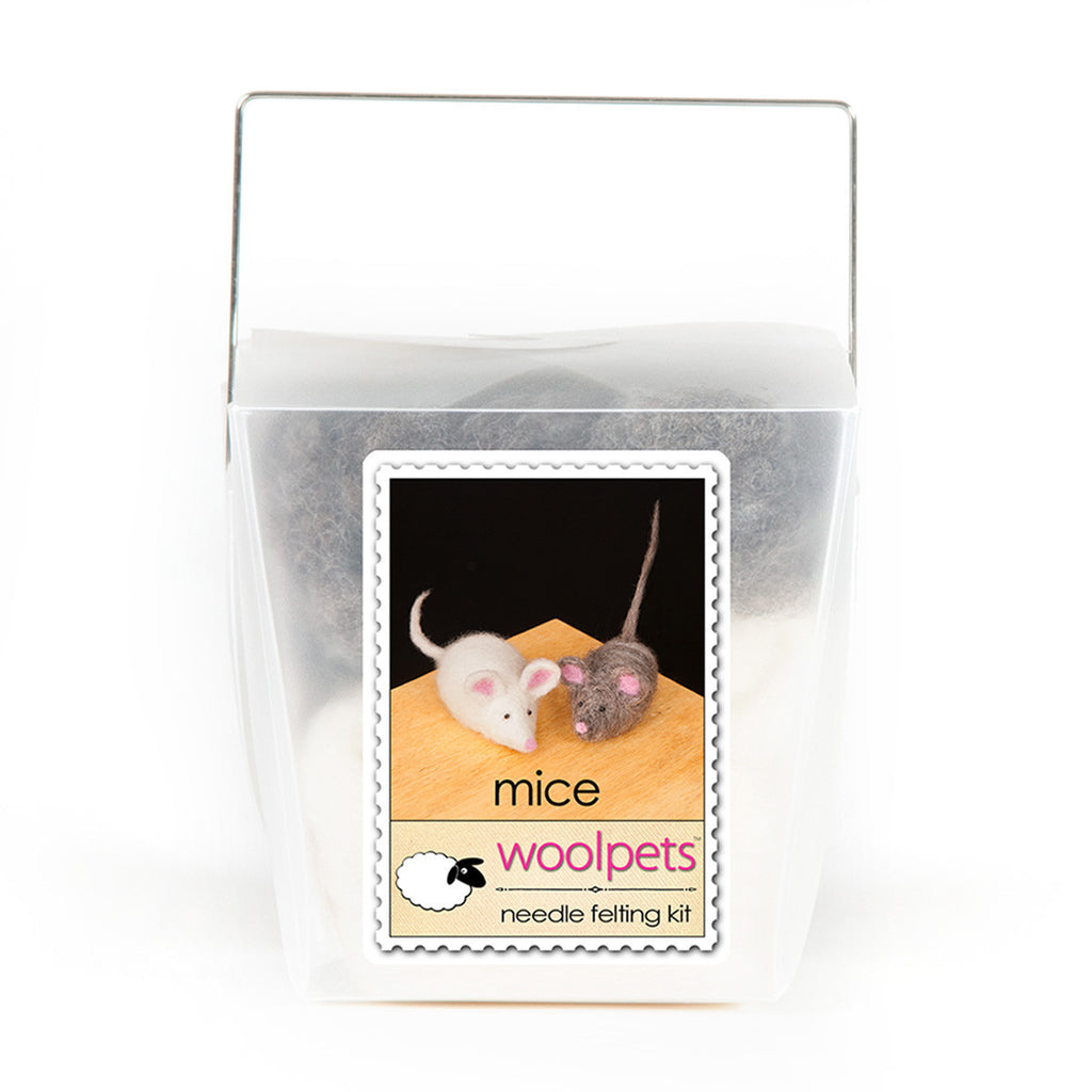 Woolpets Mice Needle Felting Kit