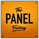 The Panel Factory Logo / Panel Production / Cutting and edging / Bonded Boards / Postforming / Flat Bonding / Postformers / Cutting / Edging / Washroom Solutions / Toilet Cubicles / IPS Systems / Doors / MFC / MDF / Laminate Services / Fabrications