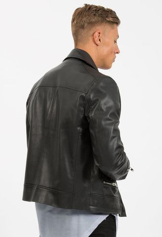 CRIMINAL DAMAGE JACKET - BIKER BLACK