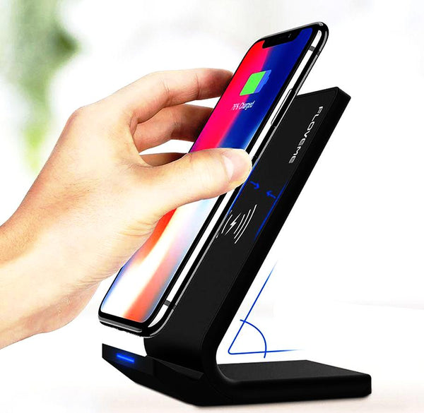 Caricatore Qi Stand Wireless Super Veloce 10W per iPhone