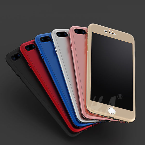 Cover 360° con vetro temperato per iPhone