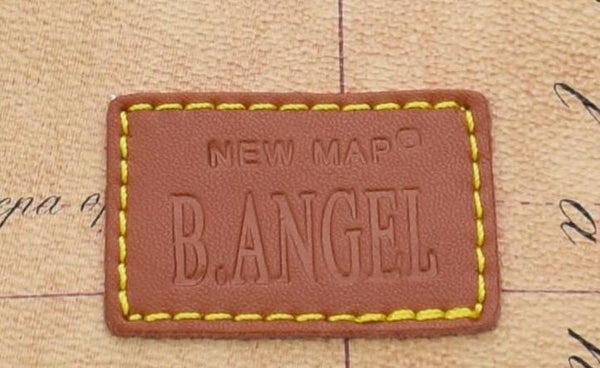 B.ANGEL NEW MAP® - Borsa Stampata in Ecopelle
