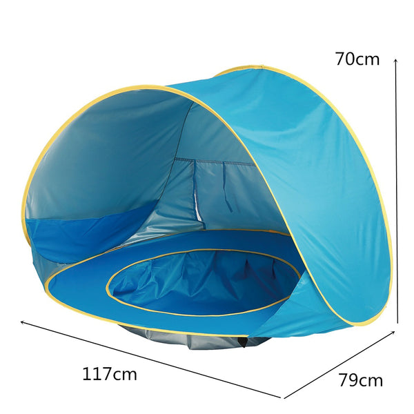 Baby Beach - Tenda con mini piscina anti UV