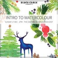 Intro to Watercolour Workshop - Melbourne - Sunday 17 December - 2pm to 5pm