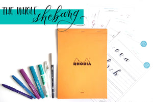 The Whole Shebang: Brush Pen Lettering Kit