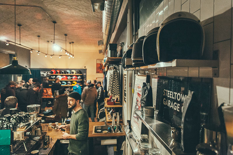 Steeltown Garage Co Coffee and Espresso Bar - Hamilton Ontario