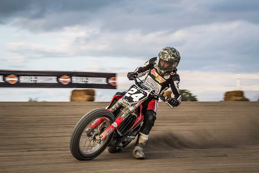 Hunter Bauer #24 Flat Track Canada Steeltown Garage Co.