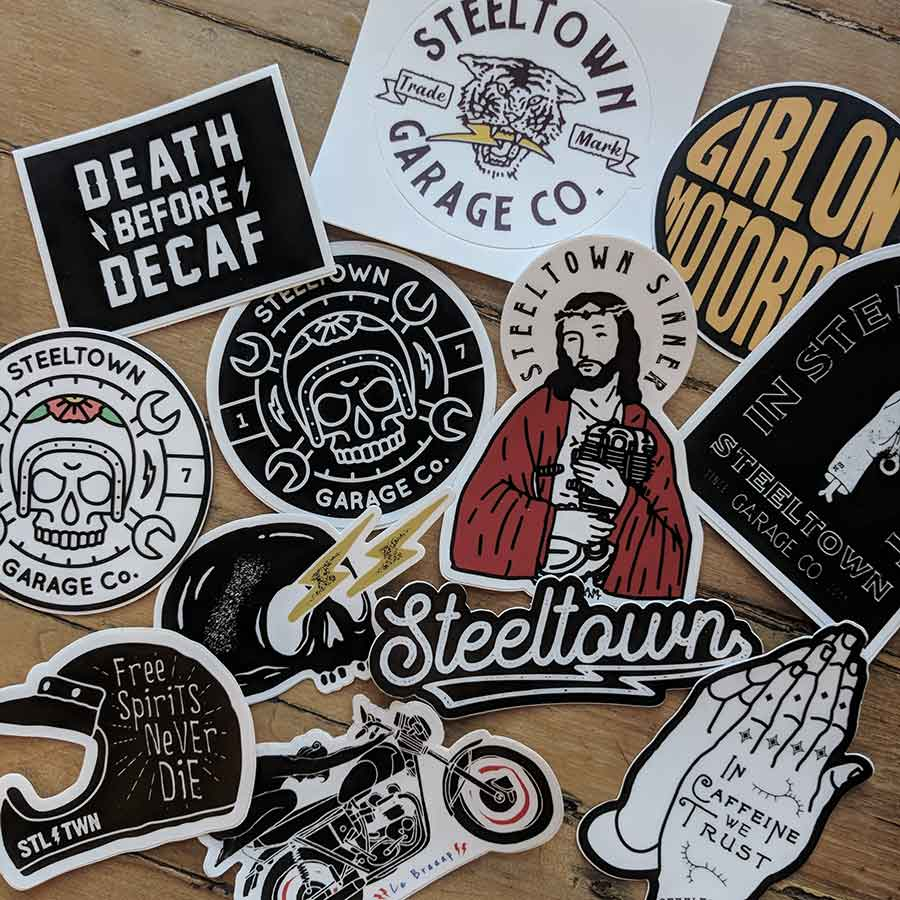 Steeltown Garage Co. Random Sticker Pack (5)