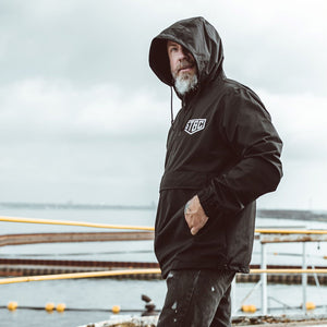 Water Resistant Anorak Jacket - Black