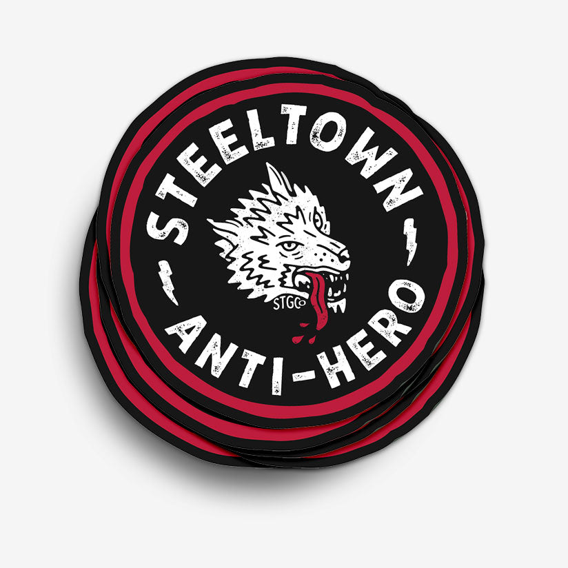 Lone Wolf Anti-Hero Sticker