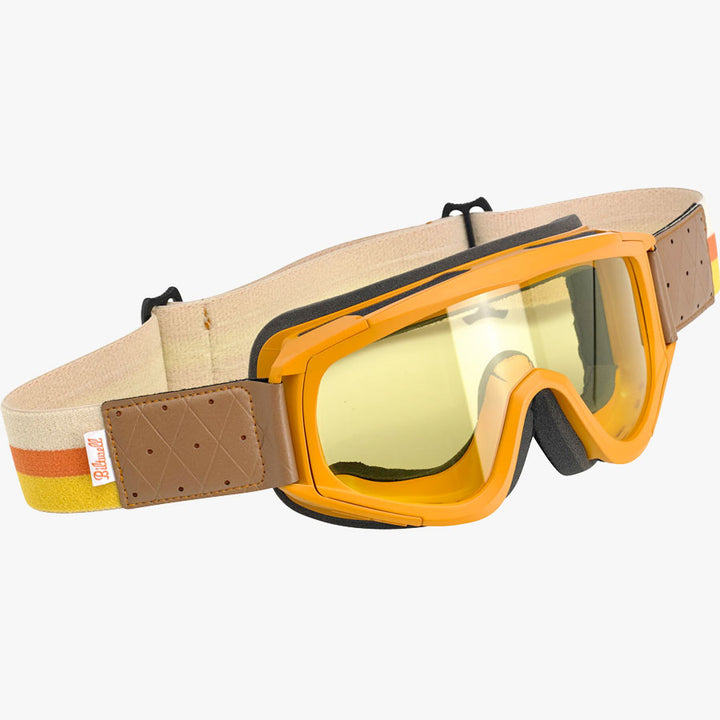 Biltwell Overland Goggle Orange/Brown
