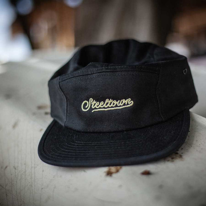 Steeltown 5 Panel Cap - Black