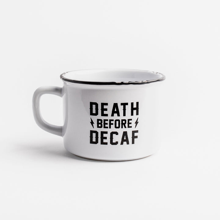 Death Before Decaf Camp Mug