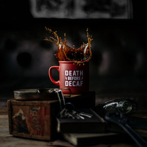 Death Before Decaf Diner Mug