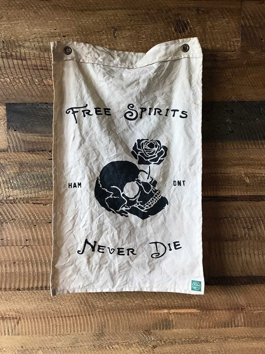 Free Spirits Never Die Coffee Flag