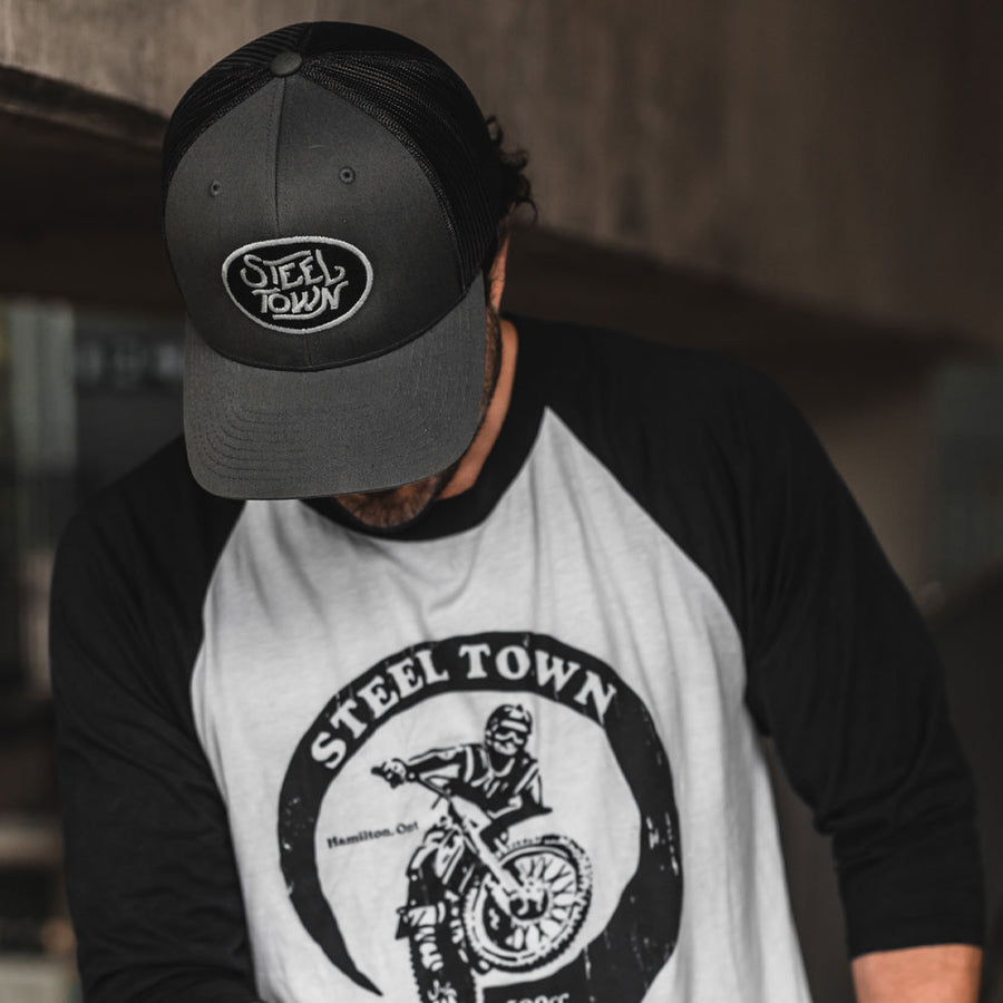 Grey Logo Trucker