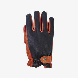 Classics Deer & Bison Leather Motorcycle Gloves - Grifter