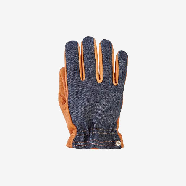 Grifter Denim & Leather Ranger Motorcycle Gloves