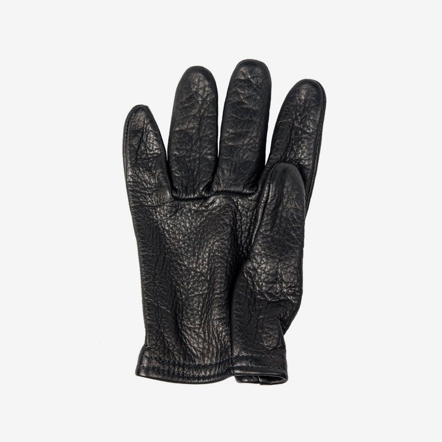 Black Leather Scoundrel Motorcycle Gloves - Grifter