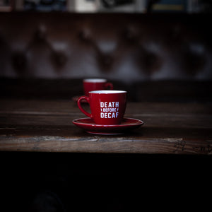 Red Death Before Decaf Espresso Cups