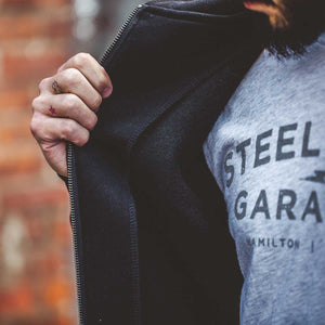 In Steel We Trust Heavyweight Hoodie