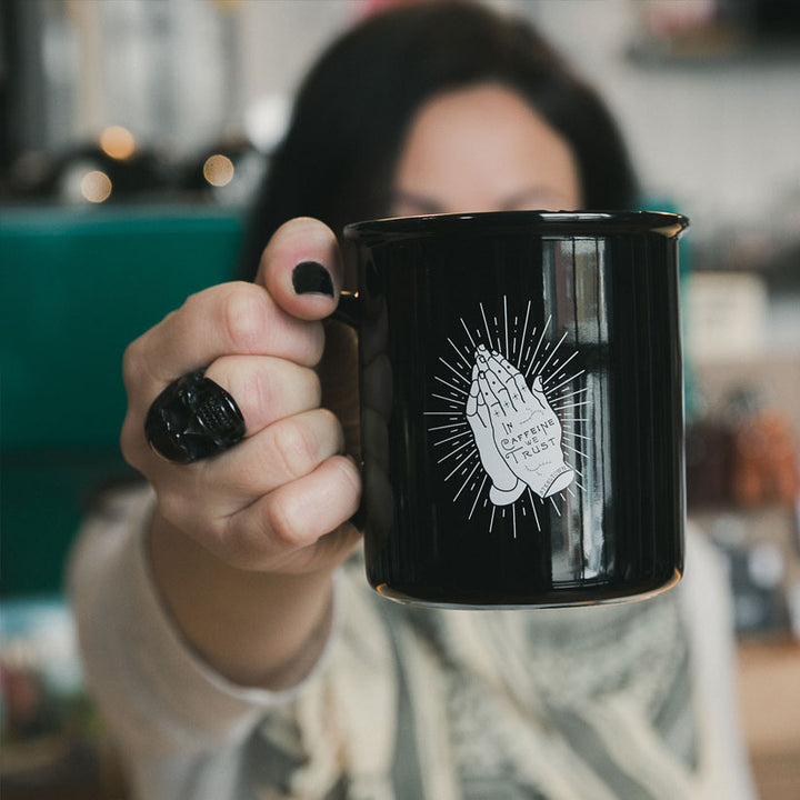 In Caffeine We Trust Coffee Mug