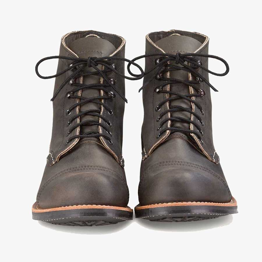 Red Wing Iron Ranger 8086 Charcoal Leather Boots
