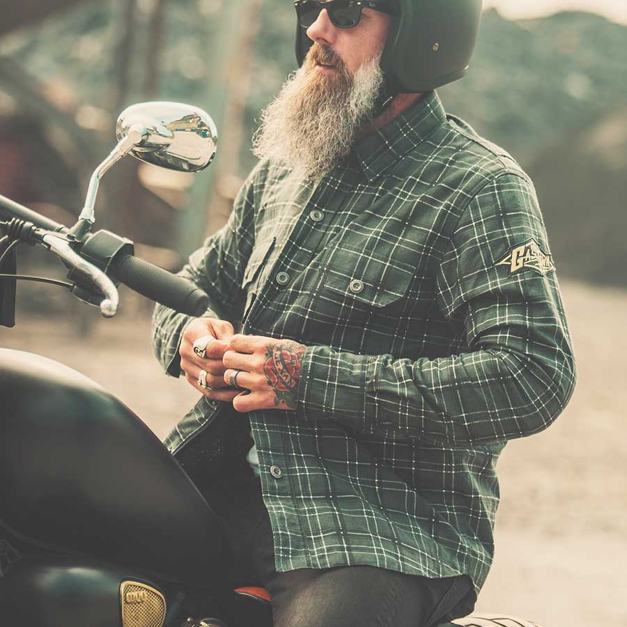 Gastown Armoured Flannel Motorcycle Shirt Men's