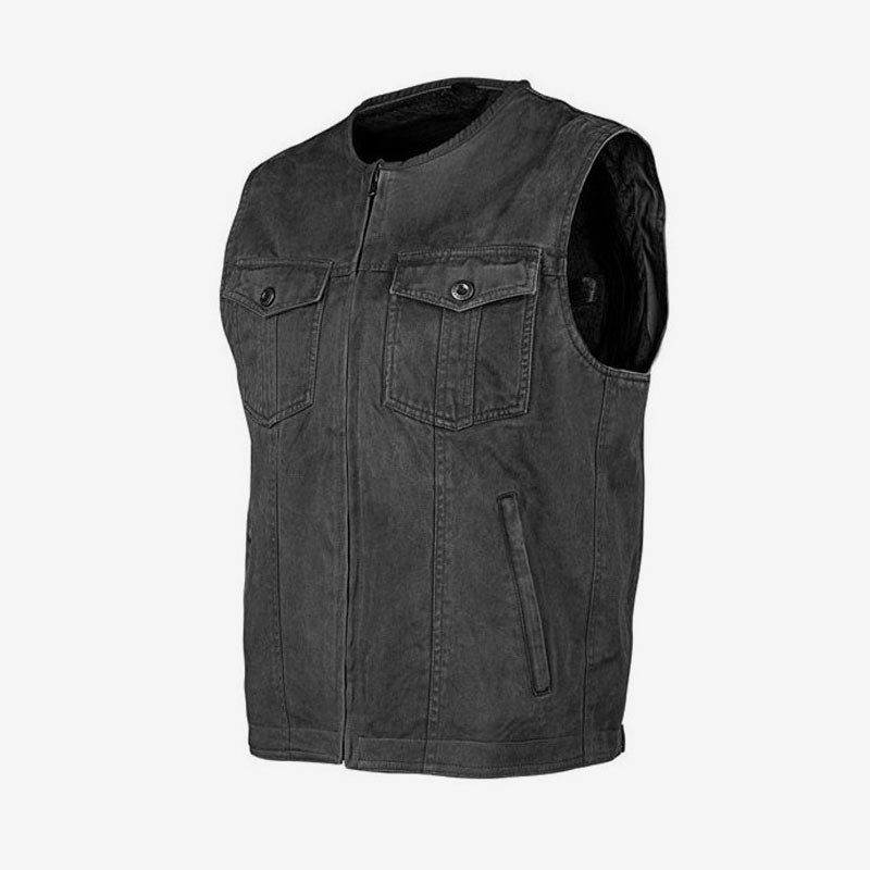 Misson Waxed Canvas Armoured Motorcycle Vest