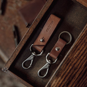 Steeltown Key Clasp - Brown Harness