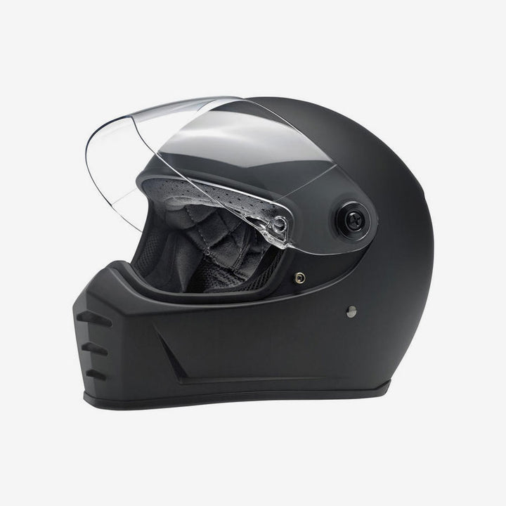 Biltwell Lane Splitter Motorcycle Helmet - Flat Black