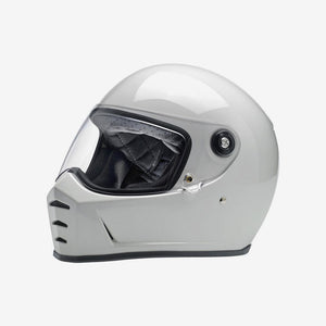 Biltwell Lane Splitter Motorcycle Helmet - Gloss White