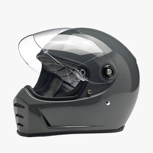 Biltwell Lane Splitter Motorcycle Helmet - Storm Grey